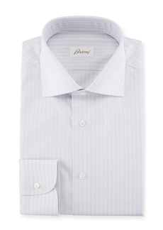 Brioni Striped Cotton Dress Shirt