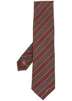 Brioni striped print tie