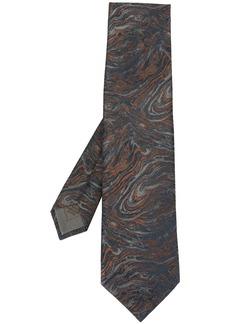 Brioni swirl print tie