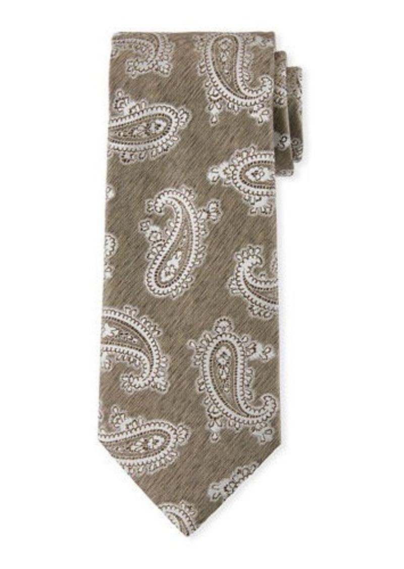 Brioni Tonal Paisley Silk Tie