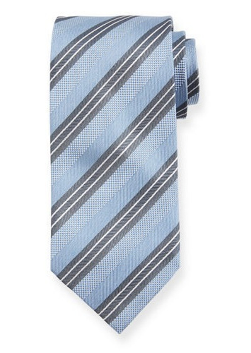 Brioni Triple Stripe Silk Tie