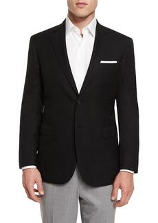 Brioni Twill Two-Button Blazer  Black