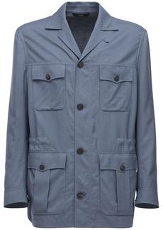 Brioni Ultralight Ds Sahari Wool Blend Jacket