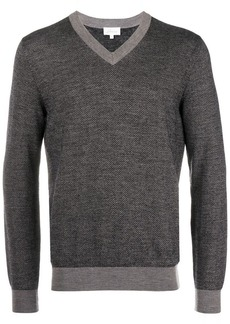 Brioni v-neck patterned jumper