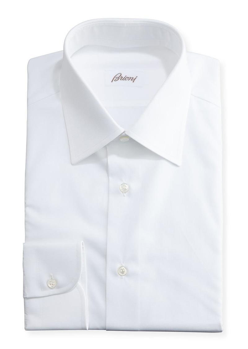 Brioni Wardrobe Essential Solid Dress Shirt  White