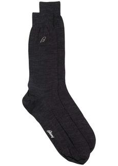 Brioni wool-blend intarsia logo socks