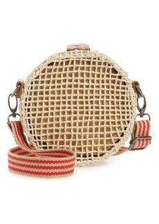 Brixton Ace Straw Circle Shoulder Bag