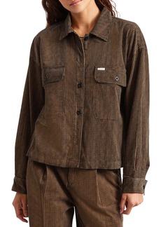 Brixton Bowery Houndstooth Corduroy Shirt Jacket