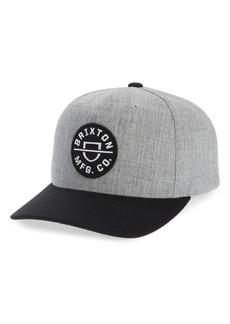 Brixton Crest Snapback Baseball Cap
