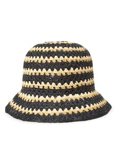 Brixton Essex Raffia Bucket Hat