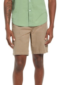 Brixton Men's Houndstooth Slim Straight Shorts