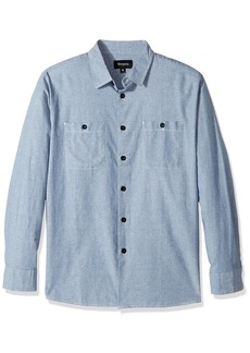 Brixton Men's Reeve Relaxed Fit Long Sleeve Woven Shirt  M