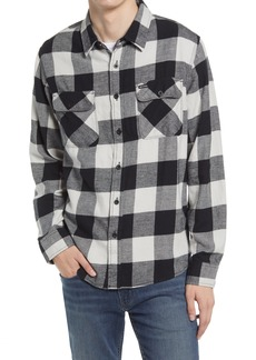 Men's Brixton Bowery Check Flannel Button-Up Shirt