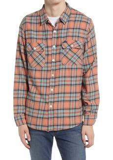 Men's Brixton Bowery Plaid Flannel Button-Up Shirt