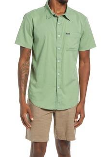 Men's Brixton Charter Oxford Woven Short Sleeve Button-Up Shirt