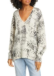 Brochu Walker Camille Snake Pattern Cashmere Sweater