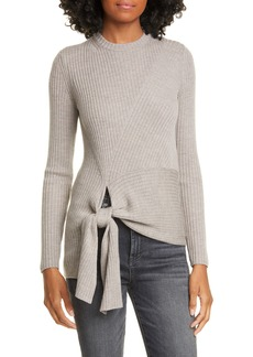 Brochu Walker Dean Tie Hem Merino Wool Sweater