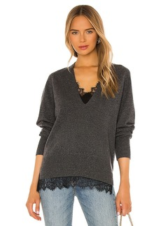 Brochu Walker Lace Vee Looker Pullover