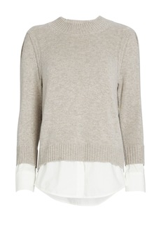 Brochu Walker Eton Layered Looker Crewneck Sweater