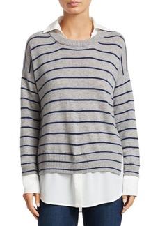 Brochu Walker Wide Stripe Crewneck Sweater