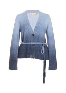 Brock Collection - Women's T-Samira Belted Cashmere Cardigan - Blue - Moda Operandi