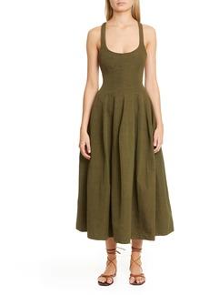 Brock Collection Cross Back A-Line Midi Dress