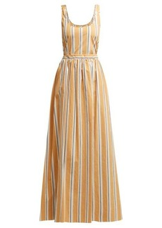 Brock Collection Oriana striped-cotton maxi dress