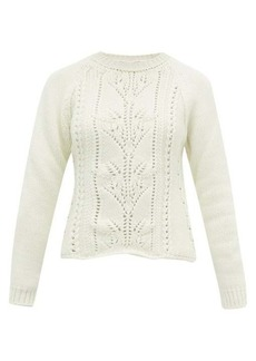 Brock Collection Pointelle cable-knit wool-blend sweater