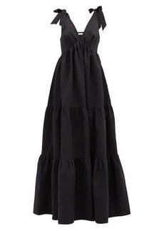 Brock Collection Raniera tiered cotton-blend poplin dress