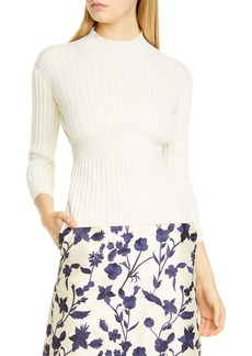 Brock Collection Rib Knit Cashmere & Silk Sweater