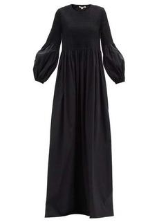 Brock Collection Rossana shirred cotton-blend poplin maxi dress