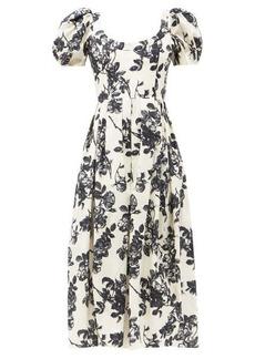 Brock Collection Salvina floral-print cotton dress