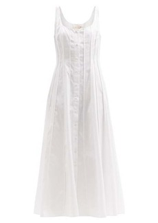 Brock Collection Sara pleated cotton-poplin midi dress