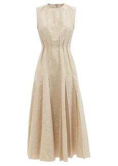 Brock Collection Teena raw-edged cotton-blend dress