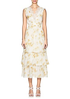 Brock Collection Women's Lace-Trimmed Floral Cotton Dress