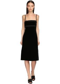 Brock Collection Camisolle Velvet Midi Dress