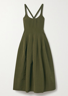 Brock Collection Cotton, Linen And Silk-blend Midi Dress