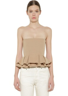 Brock Collection Flared Cotton Poplin Bustier