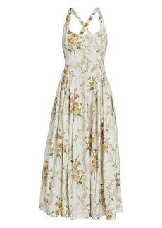 Brock Collection Floral Cotton Midi Dress