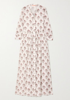 Brock Collection Floral-print Cotton And Silk-blend Maxi Dress