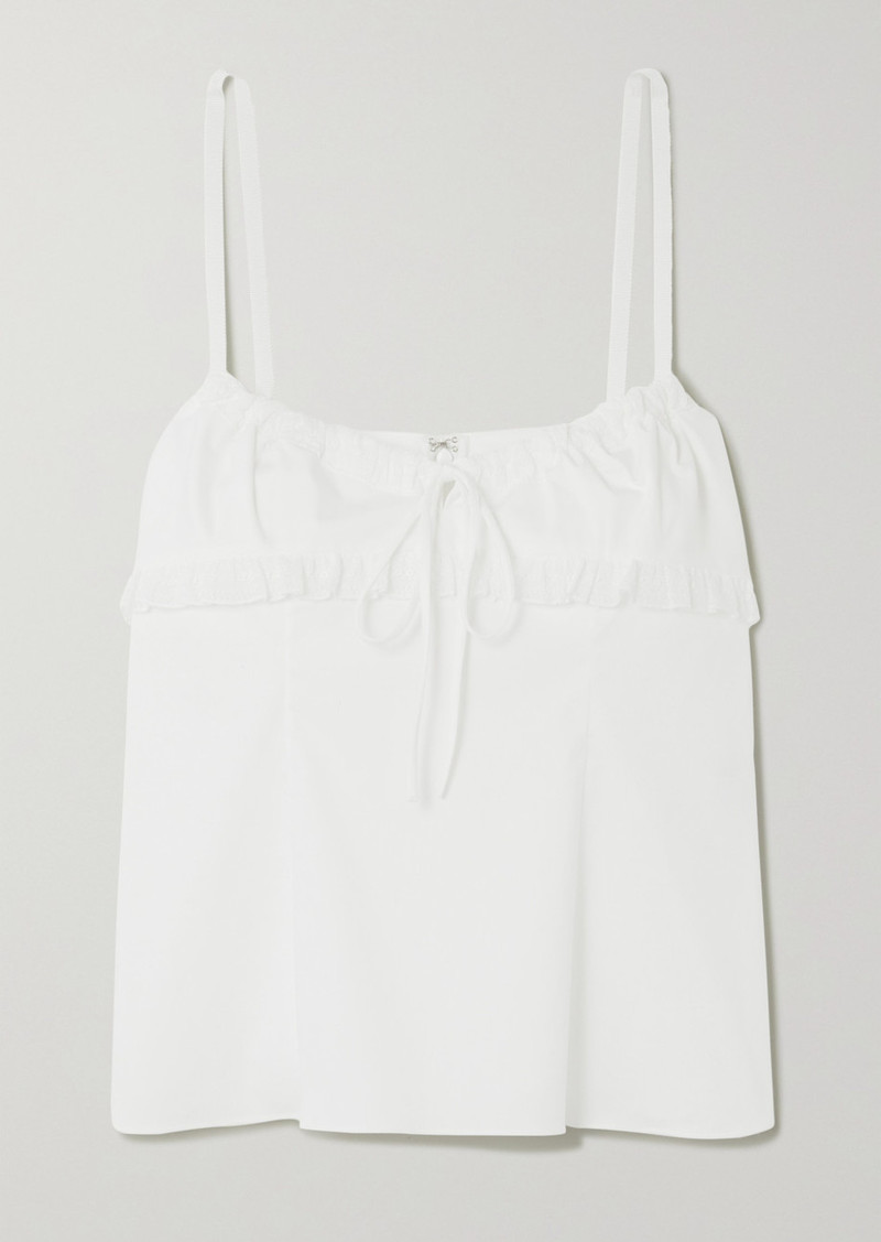 Brock Collection Lace-trimmed Stretch-cotton Camisole