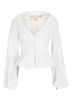 Brock Collection Sabrina Cotton Puff Sleeve Shirt Jacket
