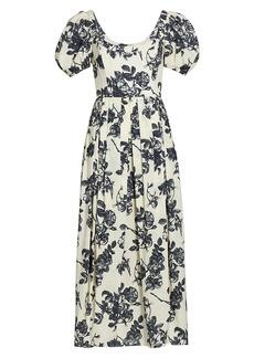 Brock Collection Salvina Floral Midi Dress
