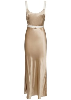 Brock Collection Satin Sleeveless Midi Dress
