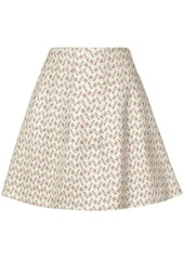 Brock Collection flared floral skirt