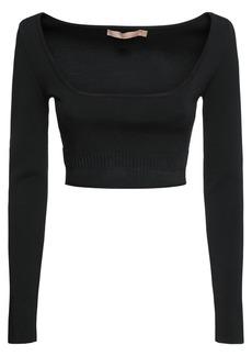 Brock Collection Viscose Blend Knit Crop Top