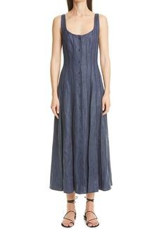 Women's Brock Collection Sara Linen Blend Chambray Midi Sundress