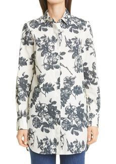 Women's Brock Collection Sibilla Floral Button-Up Cotton Shirt