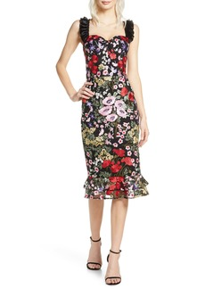Bronx and Banco Alicia Floral Midi Dress