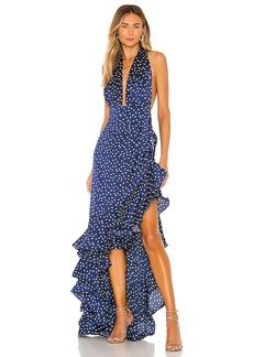 Bronx and Banco Bronte Navy Maxi Dress